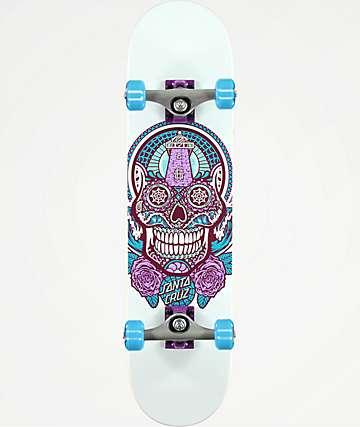 """Santa Cruz Sugar Skull 7.5"""" completo de skate"""