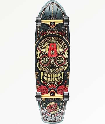 "Santa Cruz Sugar Skull 8.8"" cruiser completo de skate"
