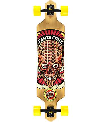 "Santa Cruz Tiki Skull Bamboo Slalom 38""  Longboard Complete"