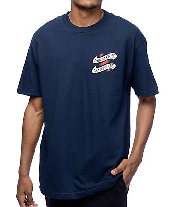 Santa Cruz Traditional Hand Navy T-Shirt