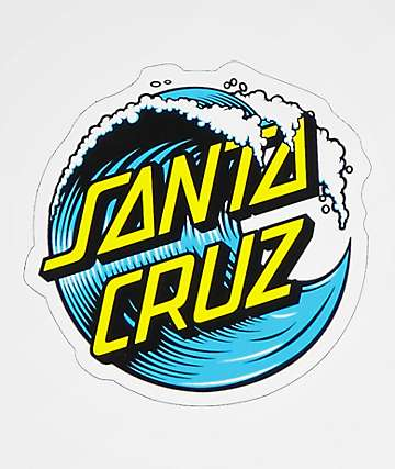 "Santa Cruz Wave Dot 3"" Sticker"