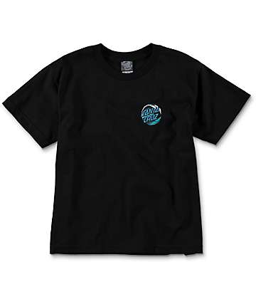 Santa Cruz Wave Dot Boys Black T-Shirt