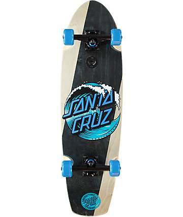"Santa Cruz Wave Dot Street Shark 30.97"" cruiser completo de skate"