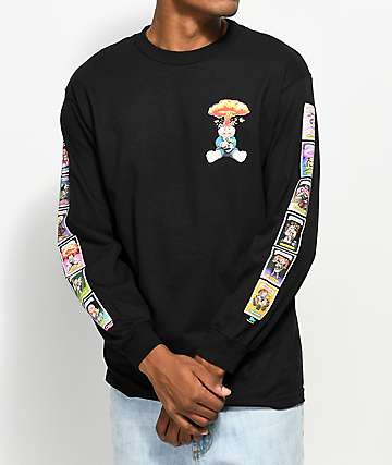 Santa Cruz x Garbage Pail Kids Nostalgia Overload Black Long Sleeve T-Shirt