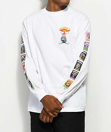 Santa Cruz x Garbage Pail Kids Nostalgia Overload White Long Sleeve T-Shirt