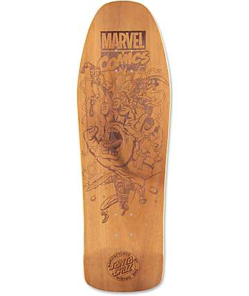 "Santa Cruz x Marvel Battle Engraved Collectible 31.3"" Cruiser Deck"