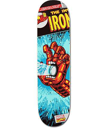 "Santa Cruz x Marvel Iron Man Hand 8.0"" Skateboard Deck"