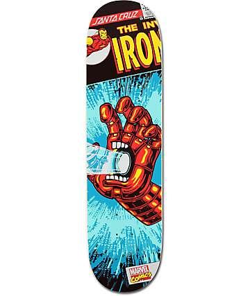 "Santa Cruz x Marvel Iron Man Hand 8.0""  Skateboard Deck"