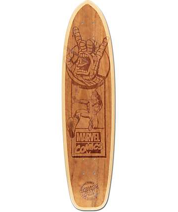 "Santa Cruz x Marvel Spiderman Engraved 31"" Skateboard Deck"