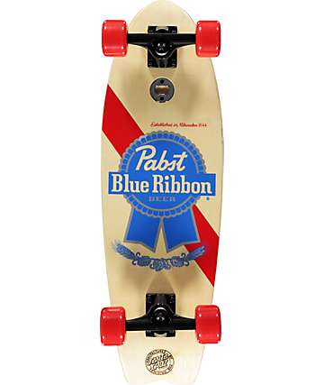 "Santa Cruz x PBR Cold One Two Shark 27.7"" Cruiser Complete Skateboard"