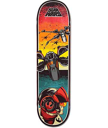 "Santa Cruz x Star Wars Episode VII Poe Dameron 8.375"" Skateboard Deck"