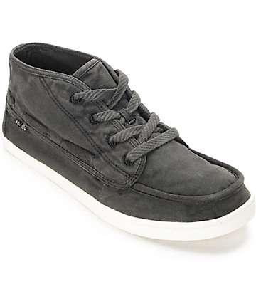Sanuk Vee K Shawn Washed Black Shoes