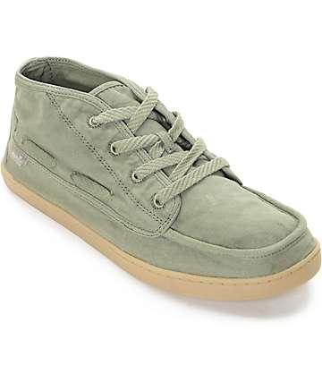 Sanuk Vee K Shawn zapatos en verde olivo