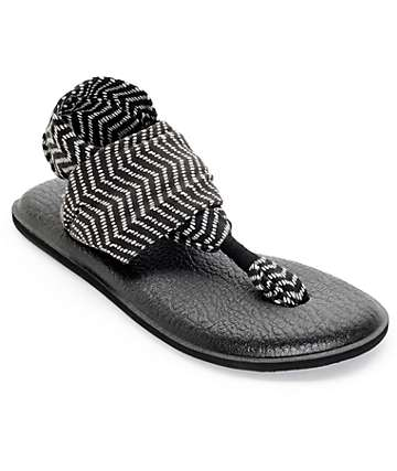 Sanuk Yoga Sling 2 Black & Natural Congo Sandals