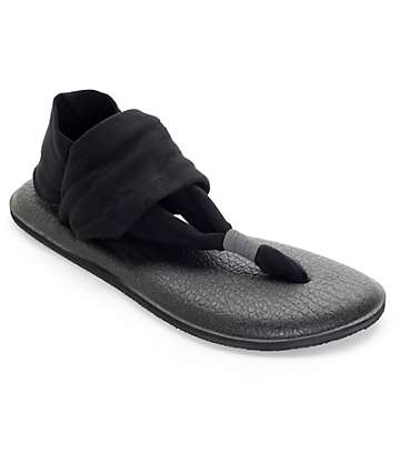 Sanuk Yoga Sling 2 Black Sandals