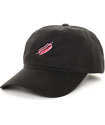Sausage Dog Black Baseball Strapback Hat