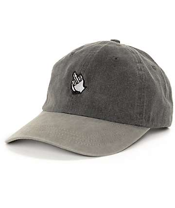 Sausage Praying Finger Dyed 2 Tone Grey Baseball Hat