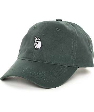 Sausage Praying Finger Green Baseball Strapback Hat