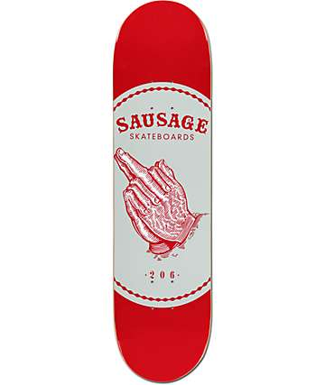 "Sausage Praying Finger Red 8.0"" Skateboard Deck"