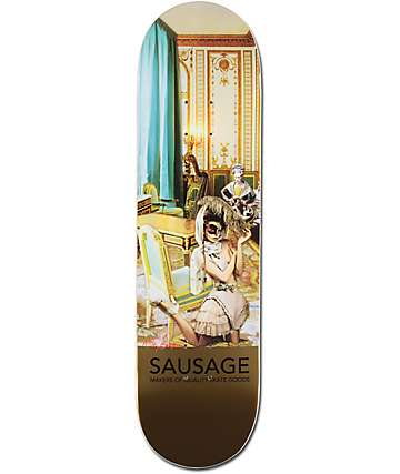 "Sausage Skateboards Mikey Gold Foil 8.25"" Skateboard Deck"