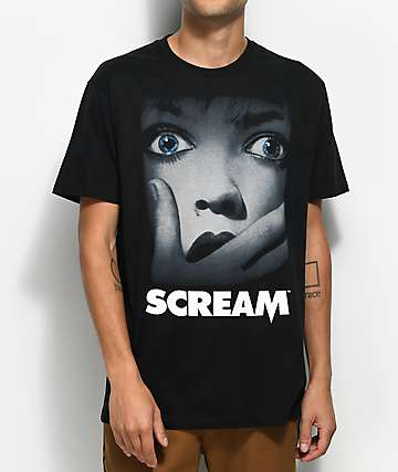 Scream Poster Black T-Shirt