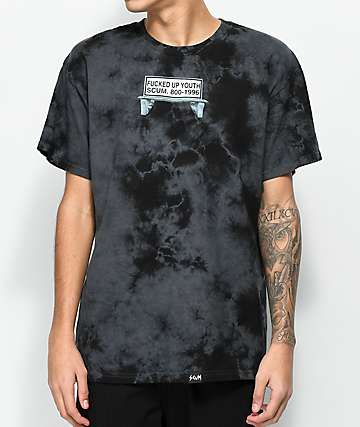 Scum Bus Bench Black Tie Dye T-Shirt