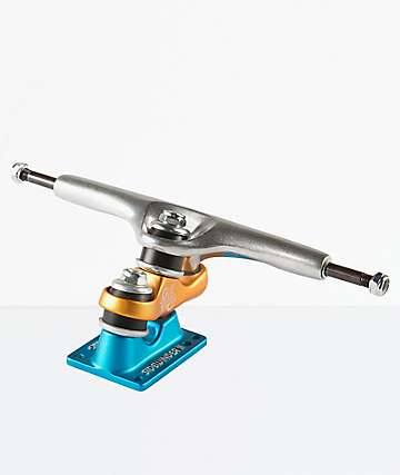 "Sector 9 Gullwing Sidewinder 2 10"" Blue & Orange Skateboard Truck"