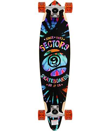 "Sector 9 Guru Tie Dye 34.5"" longboard pintail completo"