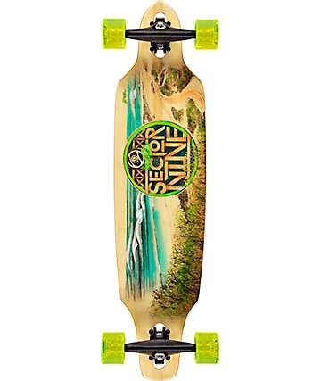 "Sector 9 Mini Lookout 37.5"" Bamboo Drop Through Longboard Complete"