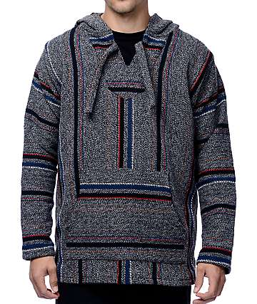 Senor Lopez Las Olas Dark Twist Grey Poncho