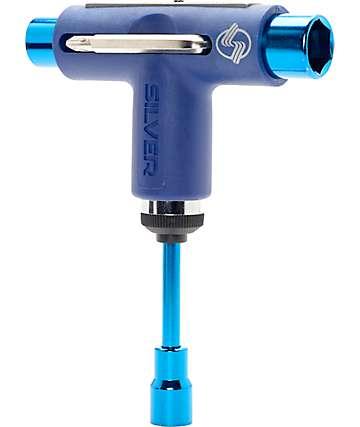 Silver Blue Skate Tool