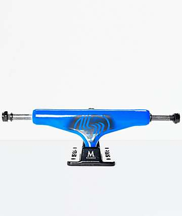 "Silver Neon Blue 8.0"" Skateboard Trucks"