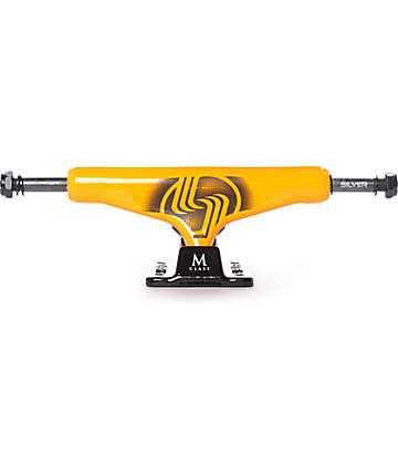 """Silver Neon Orange 8.0"""" Skateboard Truck"""