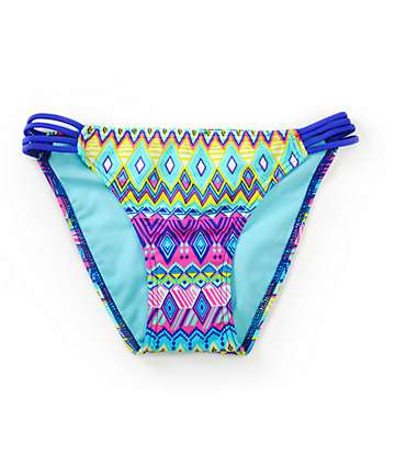Since By Malibu Deco Ling Hipster Side Strap Bikini Bottom
