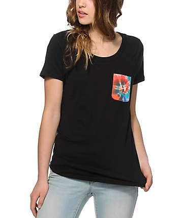 Sirens & Dolls Swirl Tie Dye Pocket T-Shirt