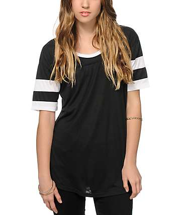 Sirens & Dolls Varsity Black T-Shirt