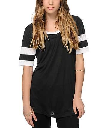 Sirens & Dolls Varsity Black T-Shirt
