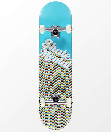 "Skate Mental Repeat Logo Blue 8.0"" Skateboard Complete"