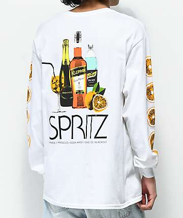 Skate Mental Spritz White Long Sleeve T-Shirt