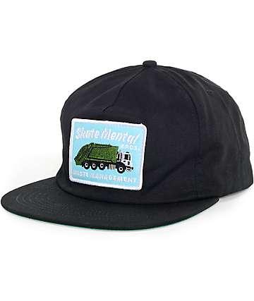 Skate Mental Wasted Management Black Snapback Hat