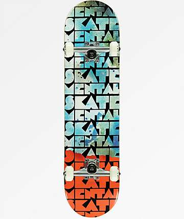 "Skate Mental Watercolors 8.0"" Skateboard Complete"
