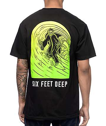 Sketchy Tank 6 Feet Deep Black T-Shirt