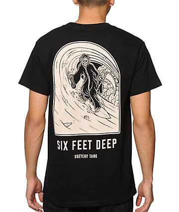 Sketchy Tank 6ft Deep T-Shirt