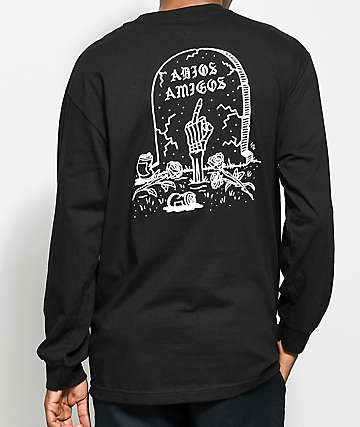 Sketchy Tank Adios Black Long Sleeve T-Shirt