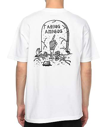 Sketchy Tank Adios camiseta blanca
