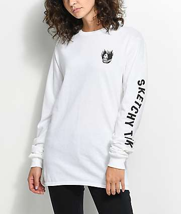 Sketchy Tank Banshee White Long Sleeve T-Shirt