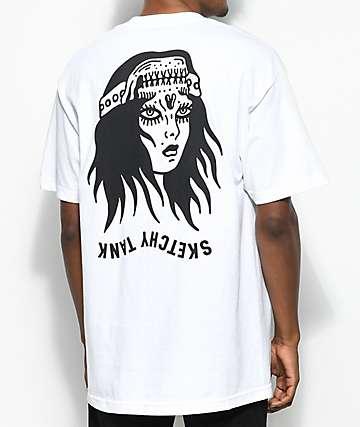 Sketchy Tank Banshee White T-Shirt