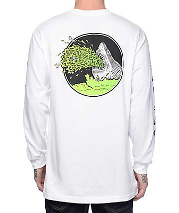 Sketchy Tank Barf White Long Sleeve T-Shirt