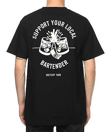 Sketchy Tank Bartender camiseta negra