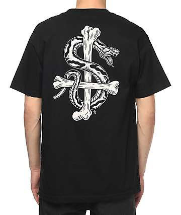 Sketchy Tank Bone Black T-Shirt